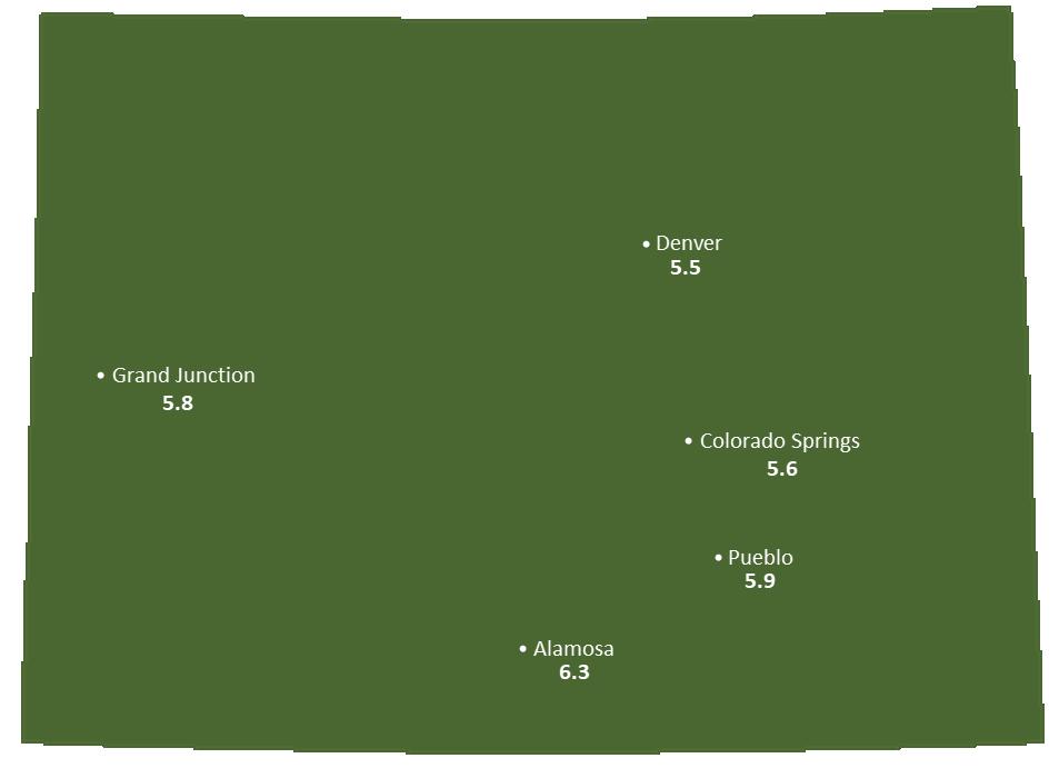 Colorado Sun Light Hours Map