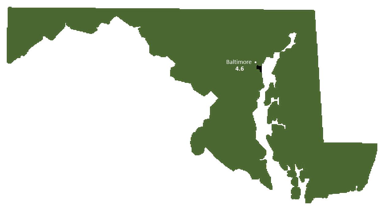 Maryland Sun Light Hours Map
