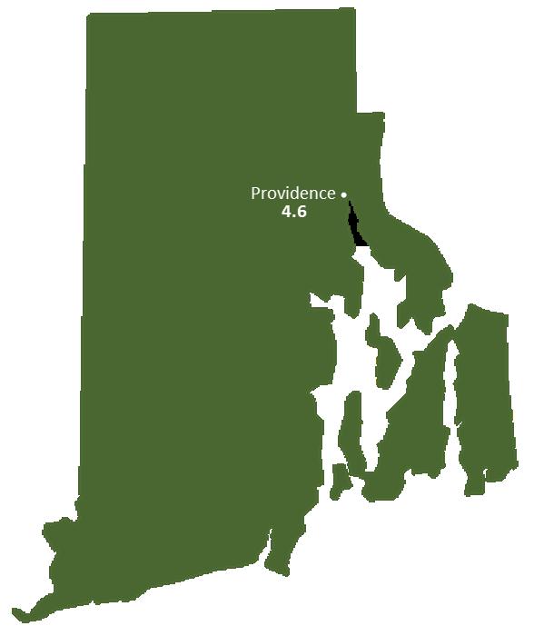 Rhode Island Sun Light Hours Map