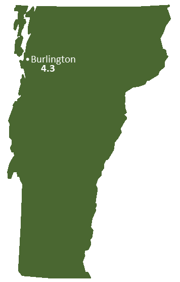 Vermont Sun Light Hours Map